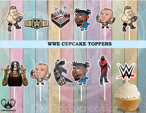 WWE Cupcake Toppers Birthday Party