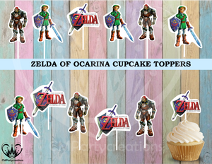 Zelda Ocarina of Time Birthday Cupcake Toppers Die Cuts