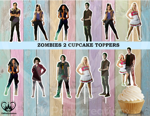 Zombies 2 Cupcake Toppers Disney Musical