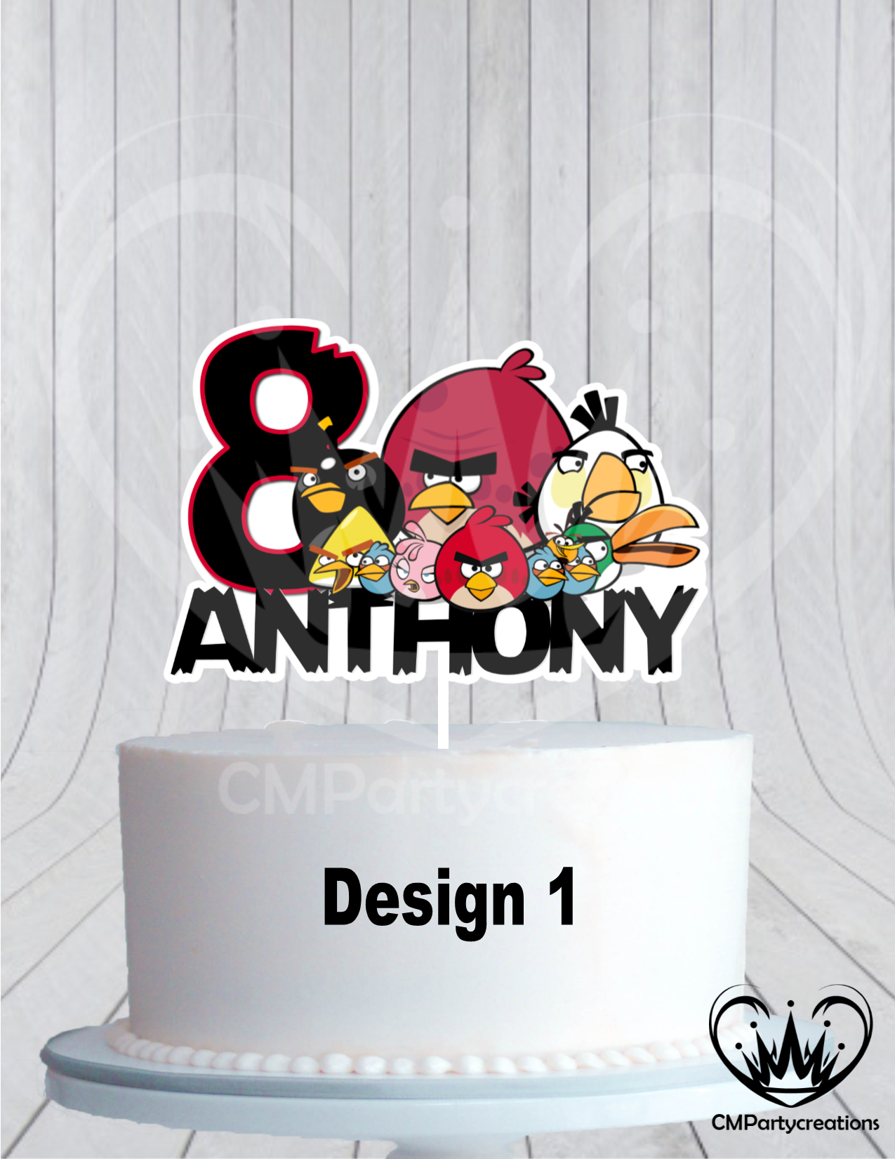 Wondrous Angry Birds Birthday Cake Topper Cmpartycreations Funny Birthday Cards Online Overcheapnameinfo