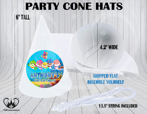 Baby Shark Personalized Cone Hats