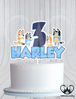 Bluey Birthday Cake Topper
