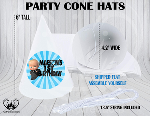 Boss Baby Personalized Cone Hats