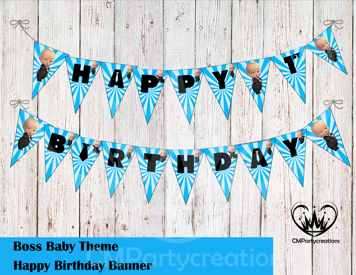 Boss Baby Banner Birthday Party