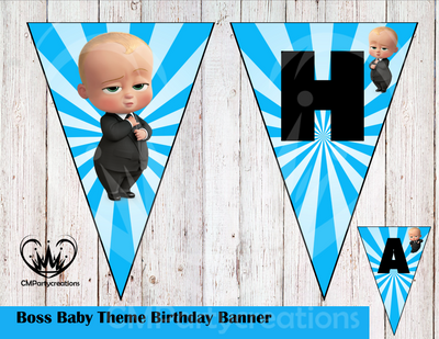 Boss Baby Banner Birthday Party Cmpartycreations