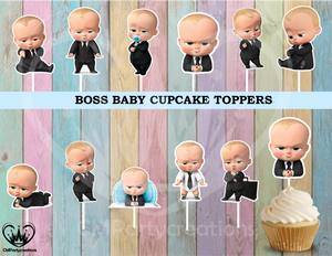 Boss Baby Birthday Party Cupcake Toppers