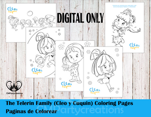 Cleo & Cuquin Telerin Family Coloring Pages