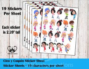 Cleo & Cuquin Telerin Family Sticker Labels