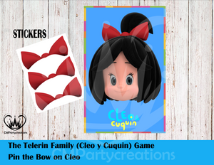 Cleo & Cuquin Telerin Family Pin The Bow Sticker Labels