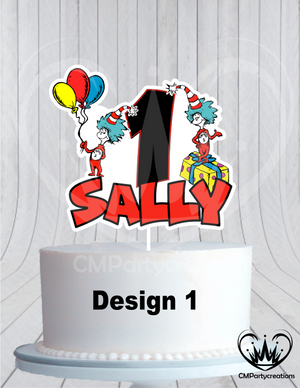 Dr. Seuss Birthday Cake Topper