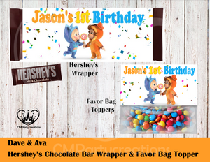 Dave & Ava Hershey's Wrapper and Favor Bag Toppers