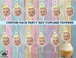 Custom Face Cupcake Toppers