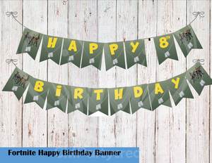 Fortnite Birthday Party Banner