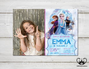 Frozen 2 Invitation Princess Birthday Party