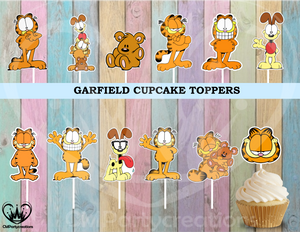 Garfield Party Cupcake Toppers
