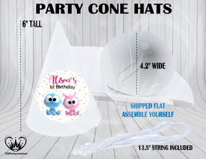 GooGoo GaaGaa Personalized Cone Hats
