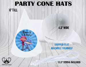 Hello Ninja Personalized Cone Hats