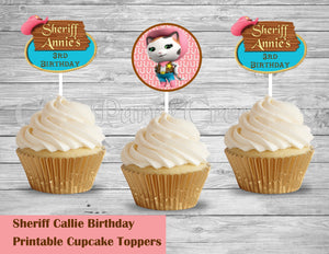 Sheriff Callie Wild West Birthday Cupcake Toppers