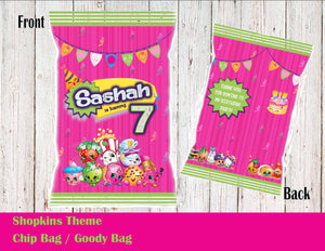 Shopkins Chip Bag /  Goody Bags