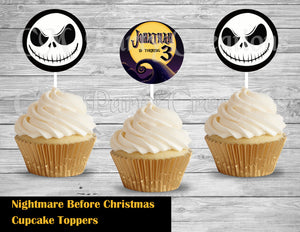 Jack Skellington Cupcake Toppers