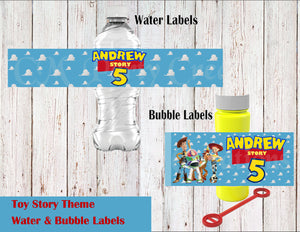Toy Story  Water & Bubble Label