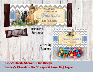 Bambi Baby Party Hershey's Wrapper and Favor Bag Toppers
