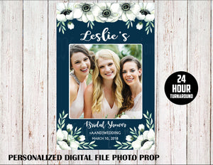 Bridal Shower Wedding Photo Prop Blue PERSONALIZED DIGITAL ONLY