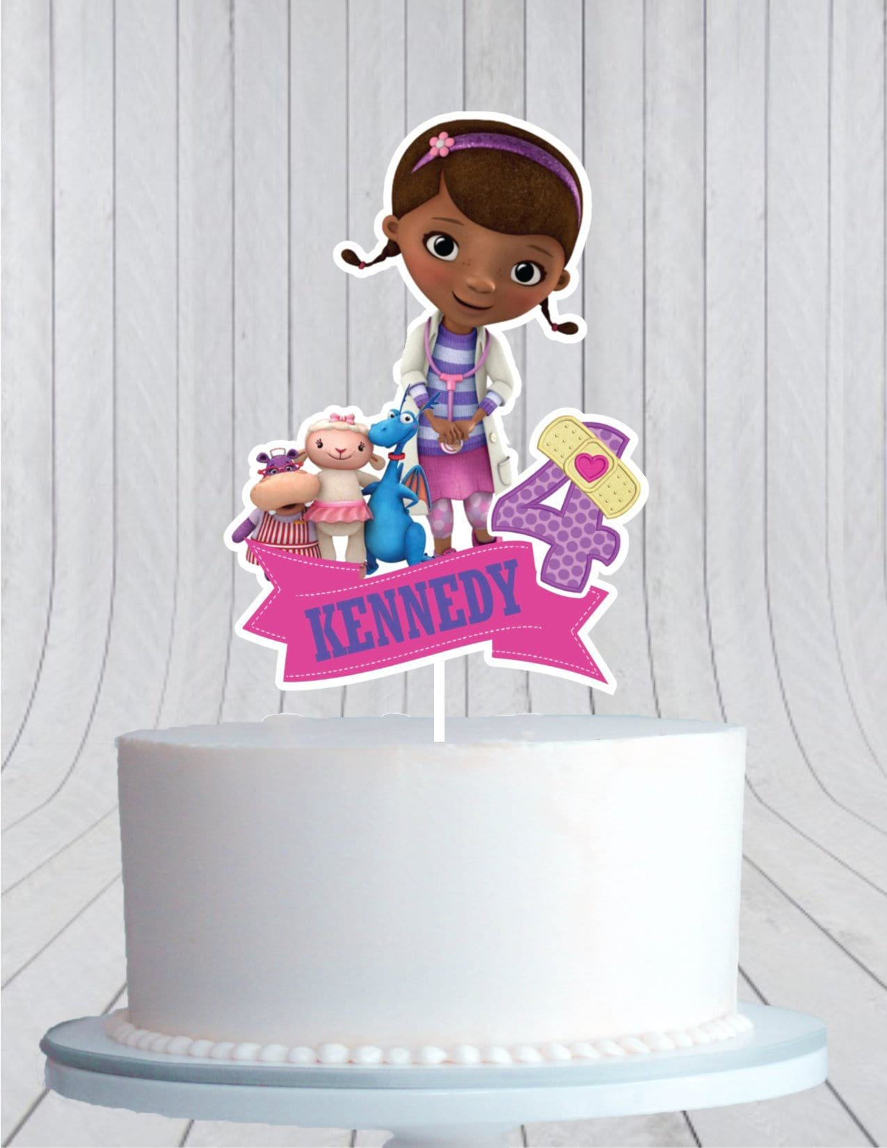 Astonishing Doc Mcstuffins Birthday Cake Topper Cmpartycreations Birthday Cards Printable Nowaargucafe Filternl