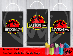 Jurassic Park Die Cut Goody Bag Labels