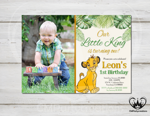 Lion King Birthday Invitation Party