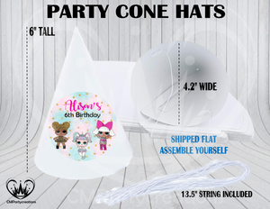LOL Surprise Dolls Personalized Cone Hats