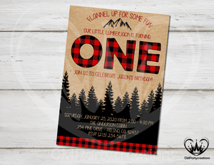 Lumberjack Invitation Flannel Up Birthday Party