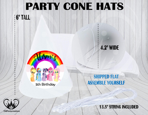 My Little Pony Personalized Cone Hats