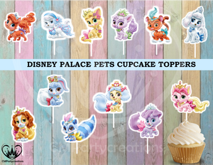 Disney Palace Pets Party Cupcake Toppers Die Cuts