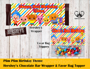 Plim Plim Hershey's Wrapper and Favor Bag Toppers