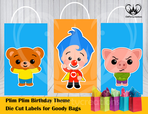 Plim Plim Die Cut Goody Bag Labels