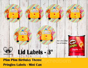 Plim Plim Pringles Can and Lid Labels