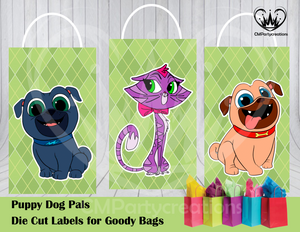 Puppy Dog Pals Die Cut Goody Bag Labels