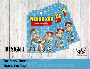 Toy Story Thank You Tags