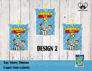 Toy Story Capri Sun Labels