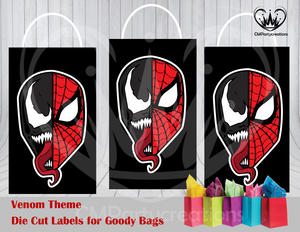 Venom Die Cut Goody Bag Labels