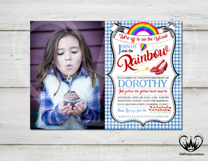 Wizard of Oz Invitation Over The Rainbow