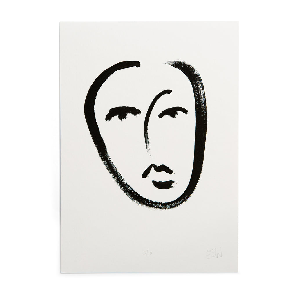 LIMITED EDITION A4 face print