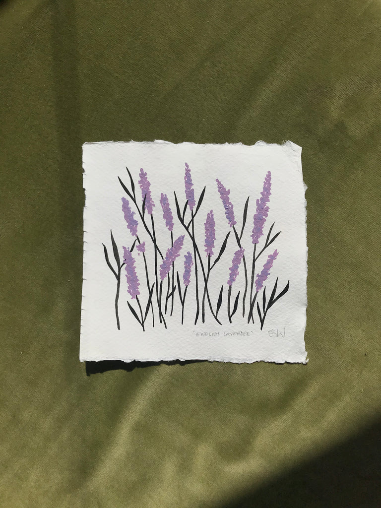 English lavender original painting