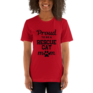 T-skjorte (unisex): Rescue cat Mom
