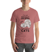 T-skjorte (unisex): I just prefer cats