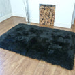 Rectangular Sheepskin Rug Black 120 x180cm