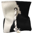 Cowhide Door Stopper Black and White