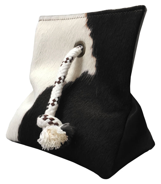 Cowhide Door Stopper Black