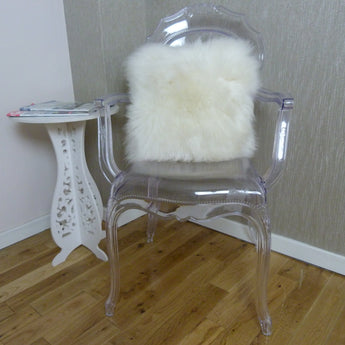 British Sheepskin Cushion Ivory